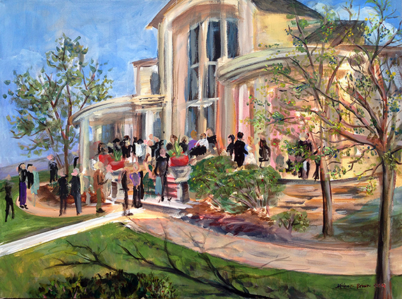 Chateaux at Fox Meadow Wedding Live Painting
