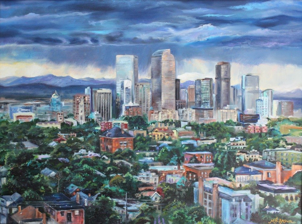 Denver Skyline Painting
