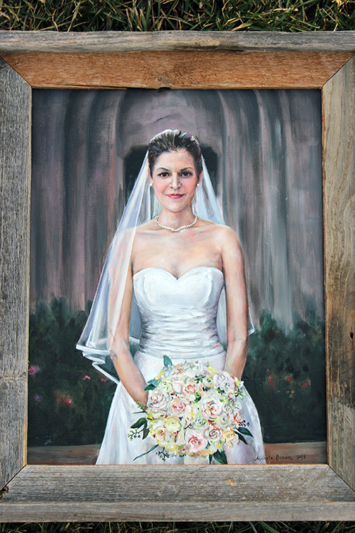 Portrait of Julia at her wedding.