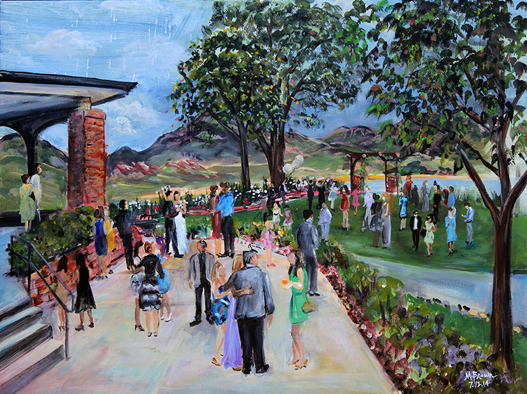 Red Rocks Country Club Wedding Live Painting