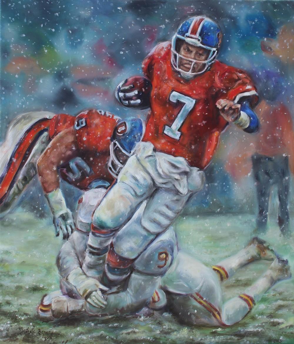 John Elway Painting